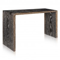 Ebonized and Cerused White Oak Console