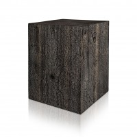 Ebonized and Cerused Quarter Sawn White Oak Display Pedestal