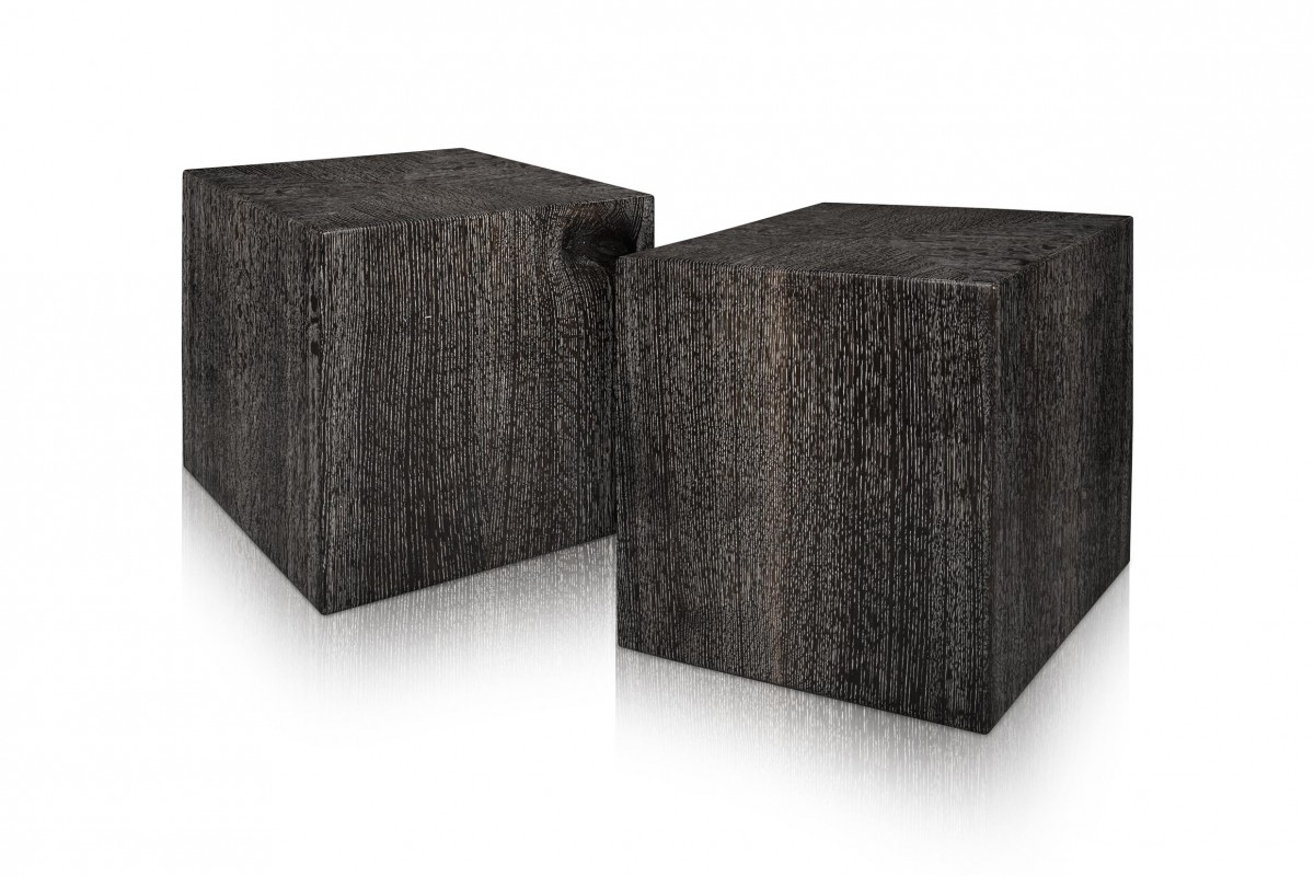 Ebonized and Cersued Quarter Sawn White Oak Cubes